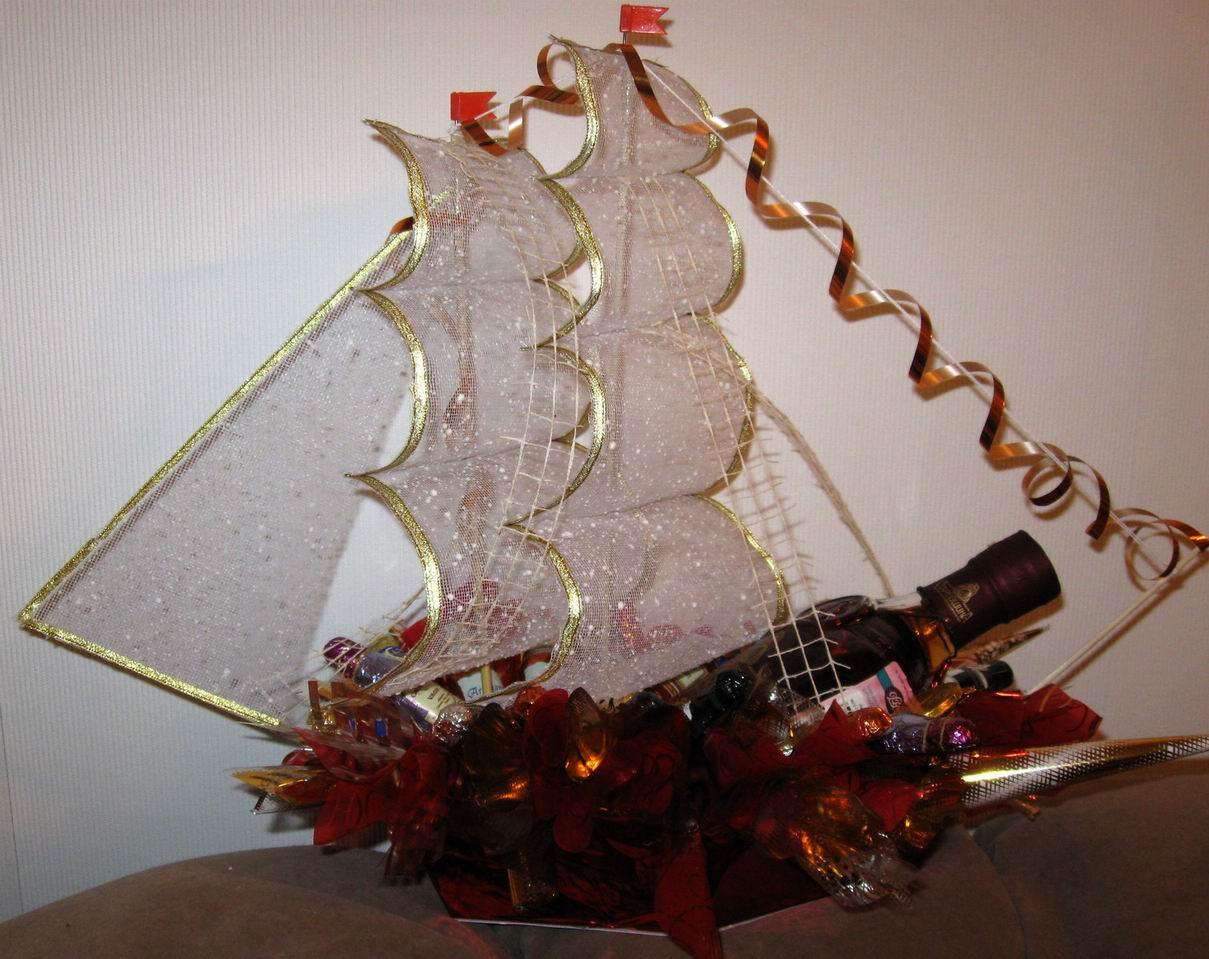 Корабли с шампанским пошаговое фото