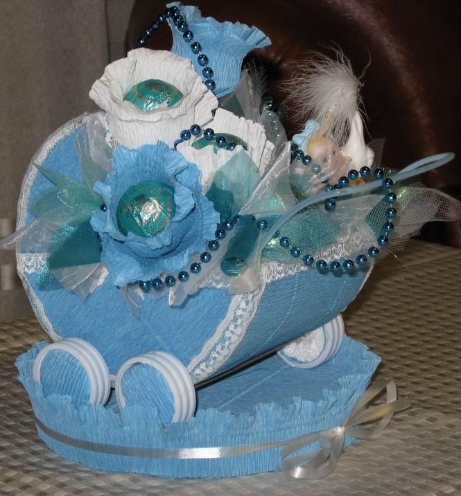 Подарки из конфет на рождение ребенка 770