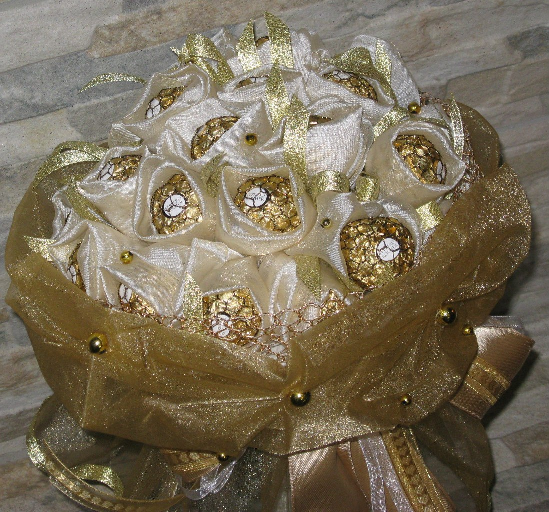 Фото букета на серебряную свадьбу